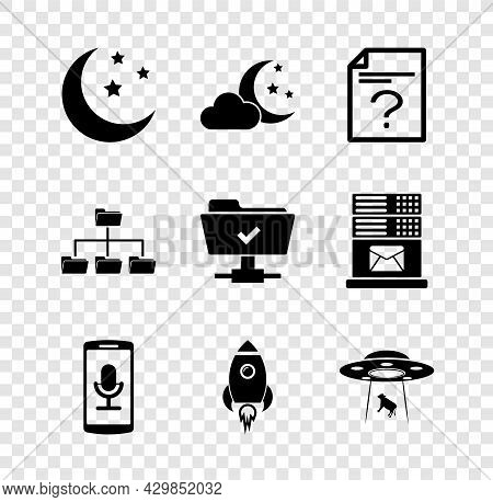 Set Moon And Stars, Cloud With Moon, Unknown Document, Mobile Recording, Rocket Ship Fire And Ufo Ab
