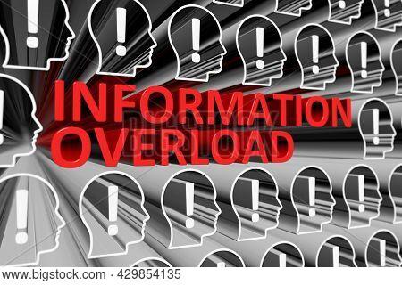 Information Overload Concept Blurred Background 3d Render Illustration