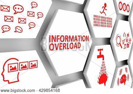 Information Overload Concept Cell Background 3d Illustration