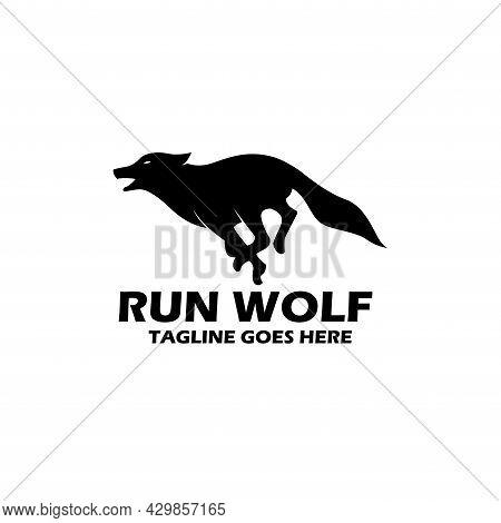 Wolf Animal Design Logo Vector. Wolf Silhouette Vector