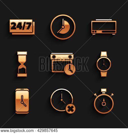 Set Calendar And Clock, Clock Delete, Stopwatch, Wrist, Alarm App Mobile, Old Hourglass, Digital Ala