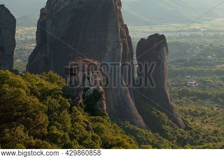 Meteora, View At One Of The Monasteries In Kalambaka, Greek Thessaly