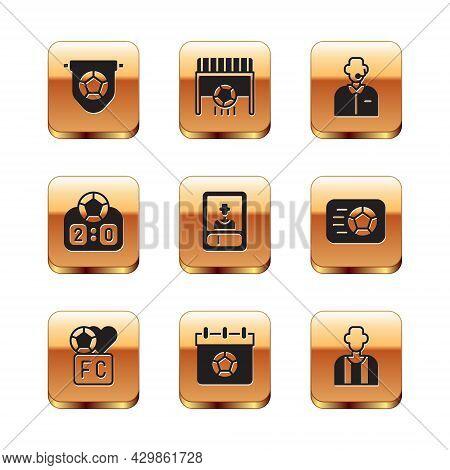 Set Football Flag Pennant, Fan Club Football, Or Soccer Calendar, Card, Sport Mechanical Scoreboard,