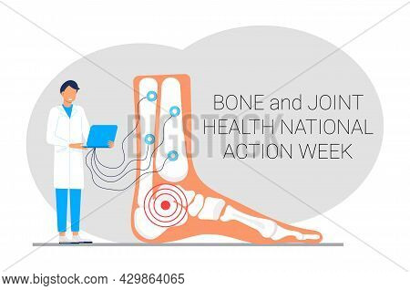 Bone And Joint Health National Action Week Concept Vector. Rheumatoid Arthritis.