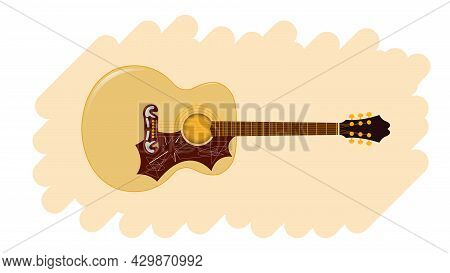 Acoustic Guitar, Musical Instrument, Rock And Roll.
