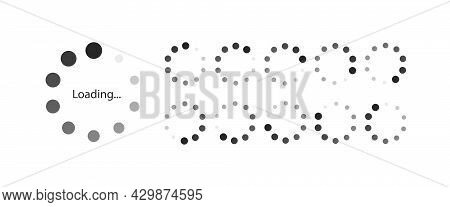 Loading Vector Symbol For Motion Design, Animation Isolated On White Background. Load Symbol, Downlo