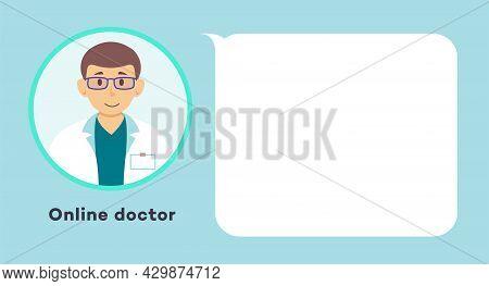 Online Medical Consultation Doctor Concept Illustration. Medical Diagnostics. Therapist Chat Messeng