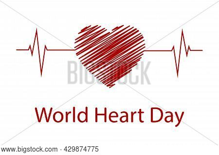 A Creative Illustration Of The Concept Of The World Heart Day, A Banner Or A Poster.the World Heart