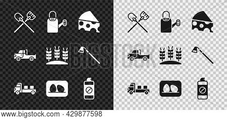 Set Shovel, Watering Can, Cheese, Pickup Truck, Chicken Egg, Garden Sprayer For Fertilizer, And Whea