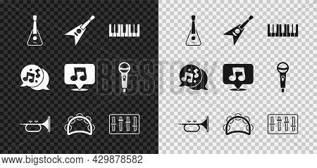 Set Guitar, Electric Bass Guitar, Music Synthesizer, Trumpet, Tambourine, Sound Mixer Controller, No
