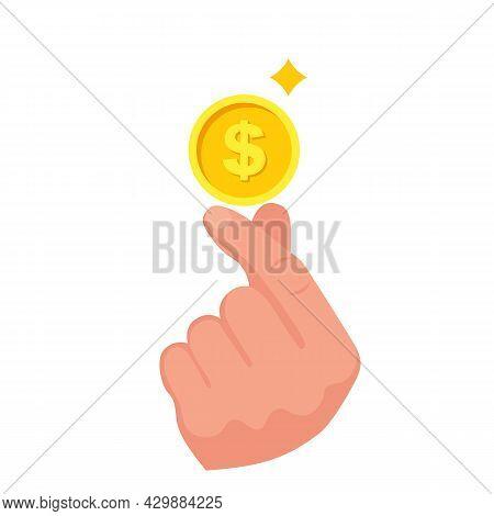 Easy Earnings. Vector Illustration Flat Design. Isolated On White Background. Money Making Concept.
