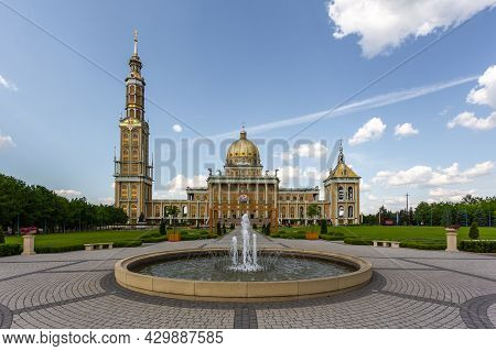 Lichen Stary, Greater Poland - 25 May 2016: View Of The Sanctuary Of Our Lady Of Sorrows, Queen Of P