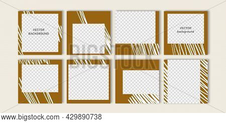 Trendy Vector Set For Social Media, Social Network Stories And Post, Mobile Apps, Banners Design, We