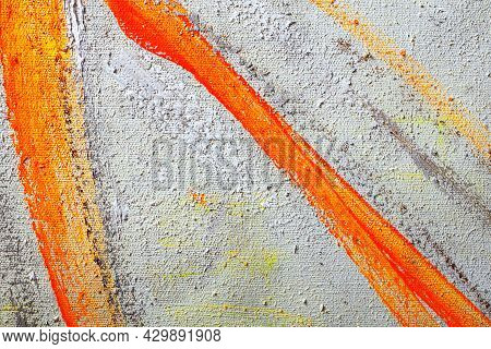 Abstract Oil Paint On Canvas Background. Photography Canvas Texture