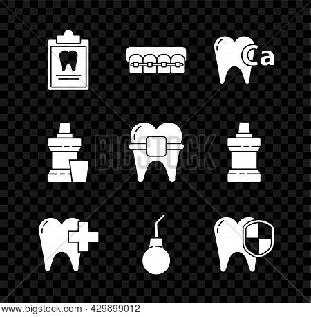 Set Clipboard With Dental Card, Teeth Braces, Calcium For Tooth, Dental Clinic Care, Enema Pear, Pro