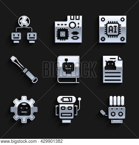 Set User Manual, Robot Low Battery Charge, Mechanical Robot Hand, Technical Specification, Screwdriv