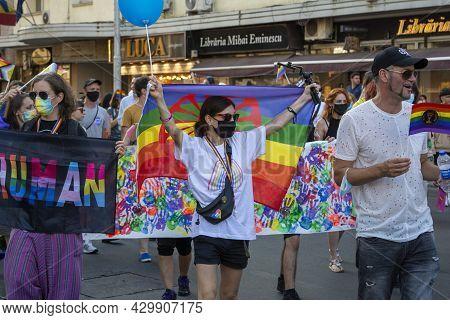 14.08.2021 Romania - Bucharest Pride Lgbt Festival Guys, Girls, Queers And Gender Diversity Wave Rai