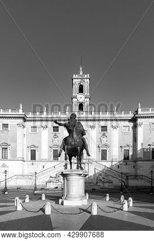 The Equestrian Statue Of Marcus Aurelius Is An Ancient Roman Equestrian Statue On The Capitoline Hil