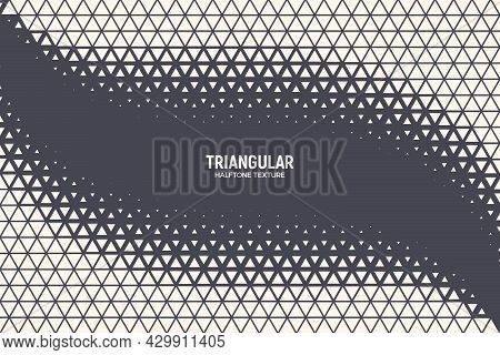 Triangular Particles Halftone Vector Geometric Technology Oscillation Wave Isolated Abstract Backgro