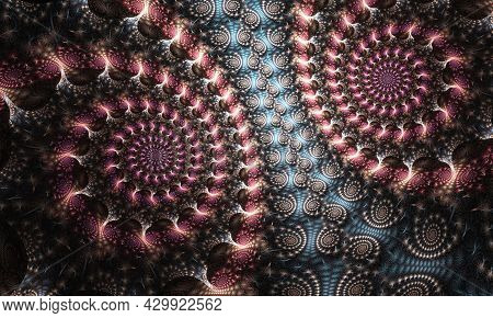 Abstract Fractal Patterns And Shapes. Dynamic Flowing Natural Forms. Great For Cell Phone Wall Paper