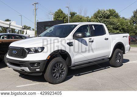 Kokomo - Circa August 2021: Ford Ranger Pickup Truck Display At A Dealership. The Ranger Nameplate H