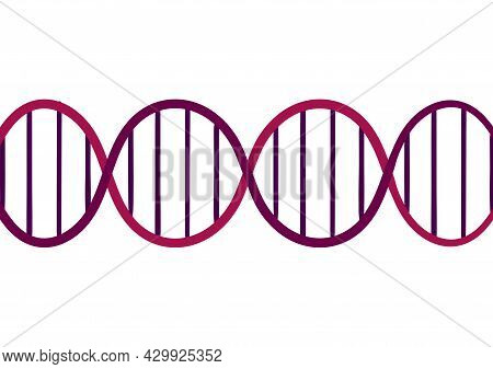 Dna Gene Background On A White Background, With A Mix Of Light Purple And Dark Purple Colors