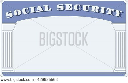 General Form Of Social Security Card Document