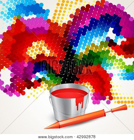 happy holi indian festival vector design poster