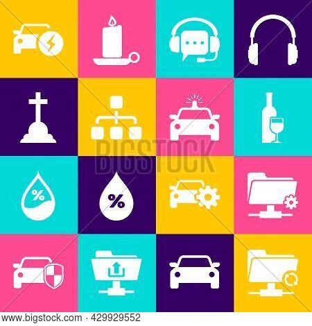 Set Ftp Sync Refresh, Settings Folder, Wine Bottle With Glass, Headphones Speech Bubble, Hierarchy O