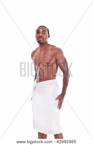 Athletic Muscular Ethnic Black Afro-american Man