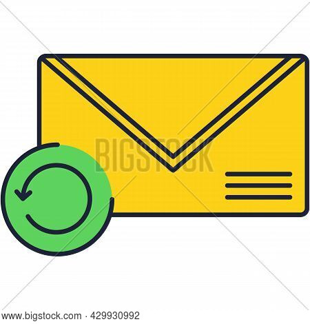 Mail Icon, Vector New Message Inbox Notification