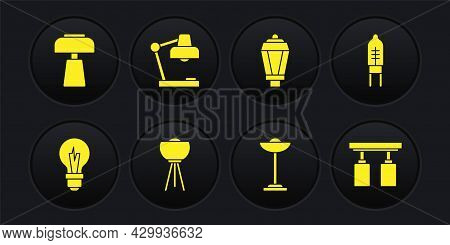 Set Light Bulb, Emitting Diode, Floor Lamp, Garden Light, Table, Led Track Lights And Lamps And Icon
