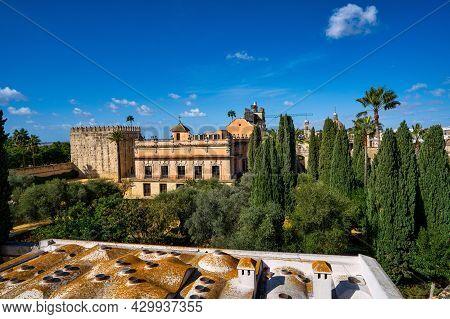 Moorish Alcazar In Jerez De La Frontera, The Ancient Stone Ruins Of Alcazar Fortress, Andalusia Spai