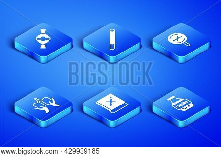 Set Nicotine Gum In Blister Pack, Candy, Book With Stop Cigarette, Lungs, Cigarette And No Smoking I