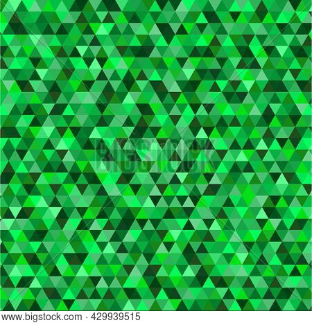 Background Of Triangles Of Different Shades Of Emerald
