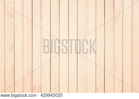 Light Wood Boards Of A Table Or Walls. Wood Texture, Wood Background.