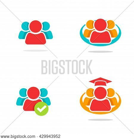 Leadership Teamwork Union Of People Concept Logo Or Abstract Social Team Network Community Icon Idea