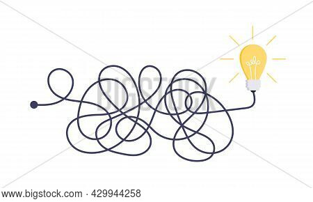 Complex Easy Simple Way From Start To Idea. Chaos Simplifying, Problem Solving And Business Solution