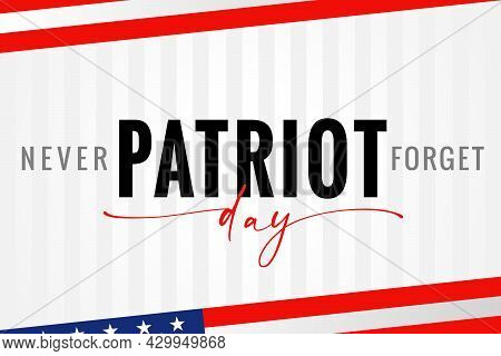 Patriot Day Usa, Never Forget Light Stripes Poster. 911, National Day Of Remembrance, United States