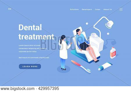 Examination And Dental Treatment. Dentist Examines Patients Mouth. Medical Prophylaxis And Therapy O