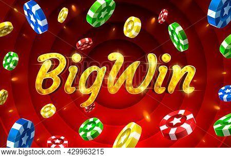 Bigwin Slots Icons, Slot Sign Machine, Night Vegas. Vector