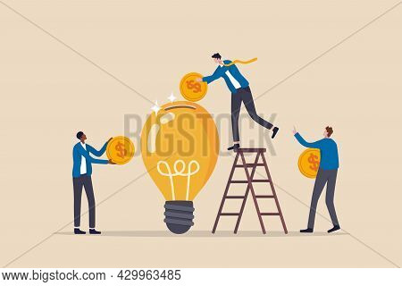 Fundraising Idea, Funding New Innovative Project, Donation, Investing Or Vc Venture Capital To Suppo