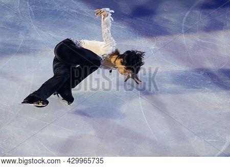Marseille, France - December 11, 2016: Yuzuru Hanyu Of Japan Performs During The Exhibition Gala Eve