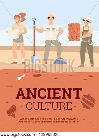 Archaeologists On Excavations In Search Of Artifacts Of Ancient Culture