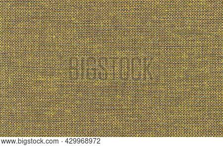 Closeup Yellow Color Fabric Sample Texture Backdrop. Ultra Yellow,green Fabric Strip Line Pattern De