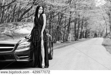 Summer Vacation. Traveling And Journey. Leisure And Pleasure Travel. Sexy Style Of Trendy Woman. Tra
