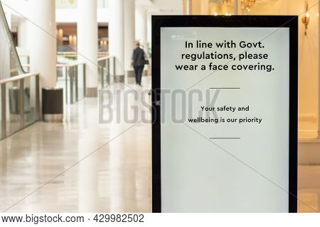 Mandatory Face Masks At Indoors Venues. In Line With Government Regulations, Please Wear A Face Cove