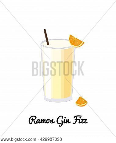 Ramos Gin Fizz Cocktail.