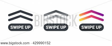 Swipe Up Arrows. Web Buttons. Template Swipe Up Buttons Colorful Gradient. Vector Illustration
