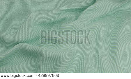 Abstract Creased Ripple Stripes Luxury Soft And  Smooth Fabric Cloth 3d Render Illustration